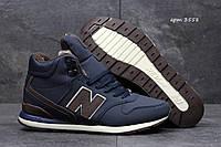 072d4ce15749 Высокие зимние кроссовки New Balance 696 Revlite темно синие с коричневым  43р 42