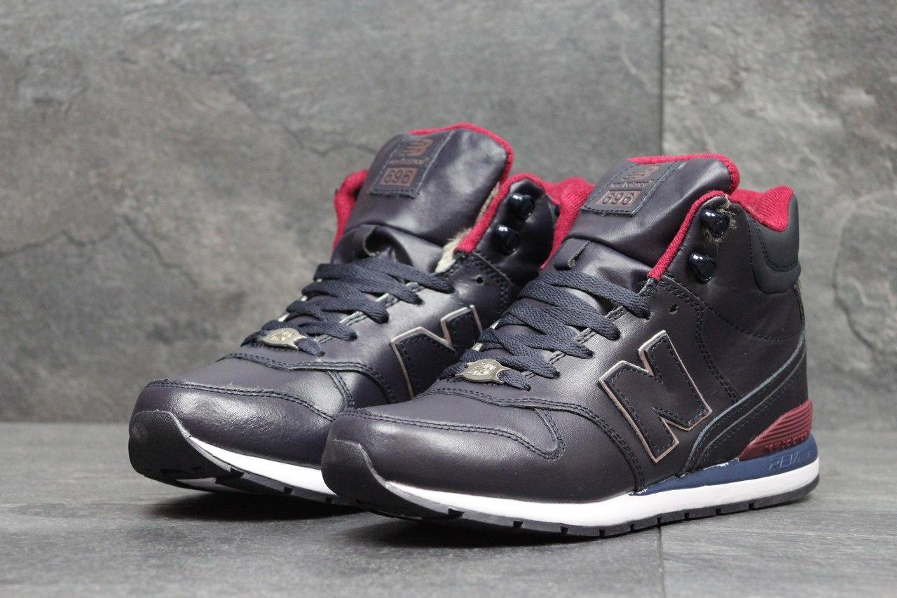 Высокие зимние кроссовки New Balance 696 Revlite темно синие