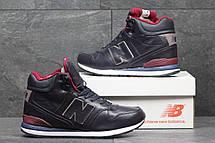 Высокие зимние кроссовки New Balance 696 Revlite темно синие, фото 2