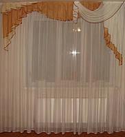 Ламбрекен прибой коричневый, 2,5м, фото 1