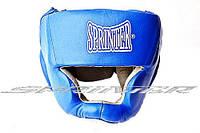"""Шлем боксёрский """"SPRINTER"""" закрытый S, M, L красный,синий 606-608"""
