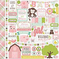 Наклейки - Echo Park - Bundle Of Joy - A New Addition - Baby Girl