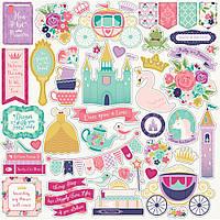 Наклейки - Echo Park - Once Upon A Time Princess - 30x30
