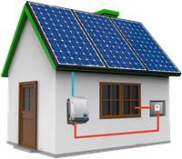 Автономная солнечная электростанция мощность 1 кВт с АКБ емкостью 1 кВт-ч
