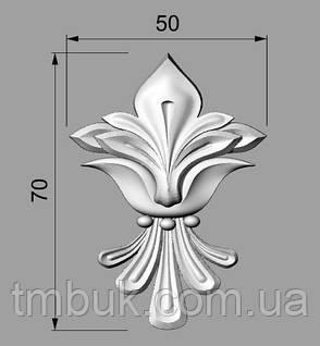 Розетка 55 - 50х70 -  резная лилия, фото 2