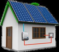 Автономная солнечная электростанция мощность 1 кВт с АКБ емкостью 3 кВт-ч