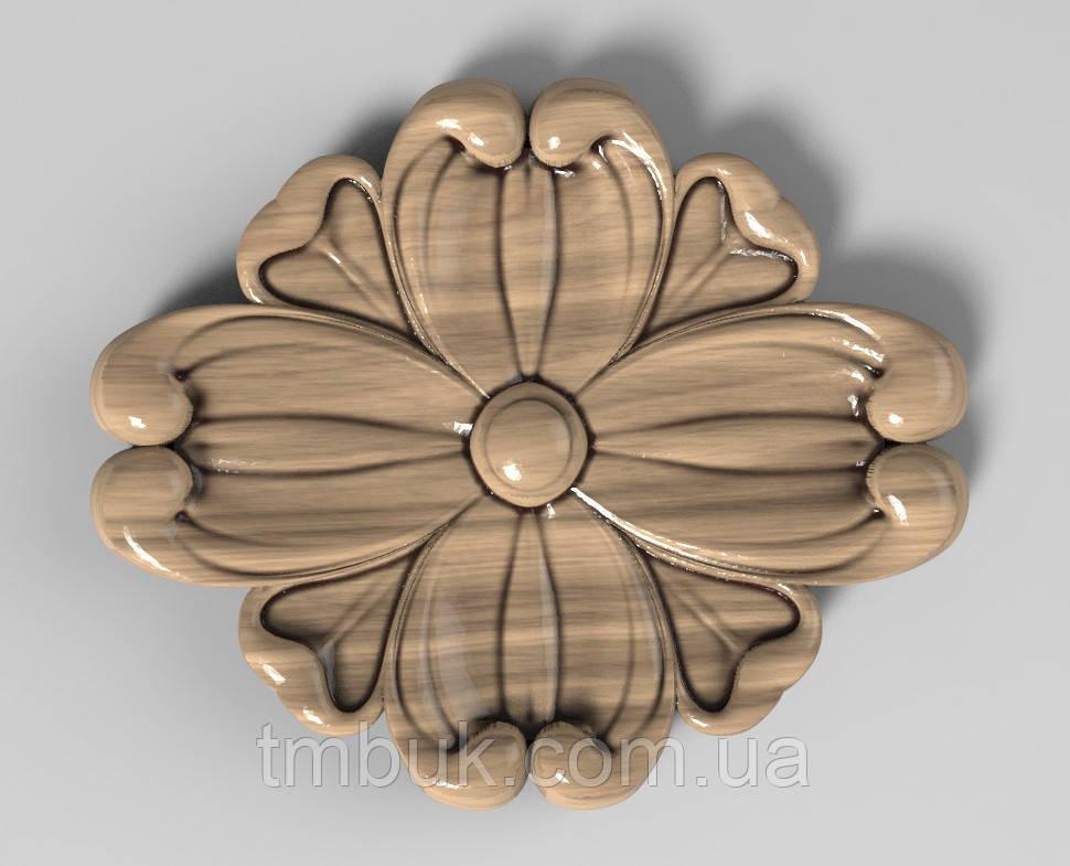 Розетка 61 - 60х50 - резная мебельная