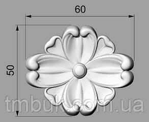 Розетка 61 - 60х50 - резная мебельная, фото 2