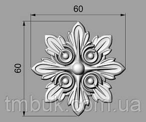 Розетка 62 - 60х60 - різьблені для меблів, фото 2
