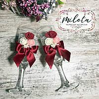Бокалы для молодых, бокалы на свадьбу, свадебные бокалы
