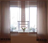 Комплект панельных шторок серебро и серые , 2м, фото 1
