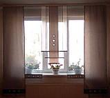 Комплект панельных шторок серебро и серые , 2м, фото 2