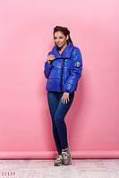 Куртка женская зимняя теплая теплая электрик