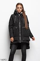 Куртка женская зимняя теплая трансформер 16093 черный