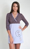 Сорочка для кормящих мам в горошек