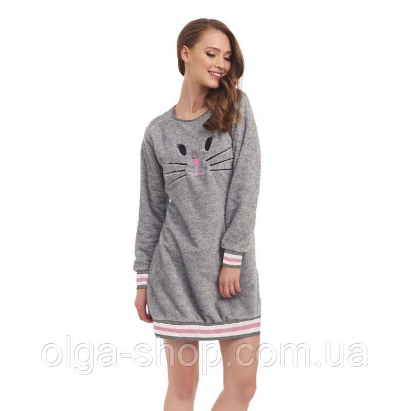 Сорочка ночная рубашка женская теплая зимняя плюшевая Dobra Nocka 9403