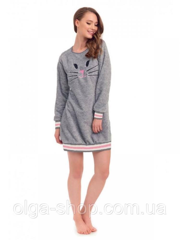 8c4e851289f35 Сорочка ночная рубашка женская теплая зимняя плюшевая Dobra Nocka 9403, фото  2 ...