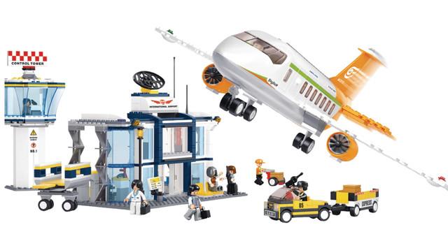 Детский конструктор самолет и аэропорт Sluban M38-B0367