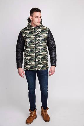 Куртка для мужчин военный принт, фото 2