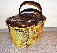 "Корзина для пикника ""Pisa"" с декором Elif Plastik, Турция"