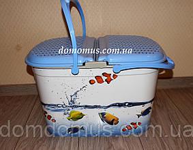 "Корзина для пикника с декором ""Рыбки"" Elif Plastik, Турция"