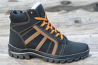 Зимние мужские спортивные ботинки, кроссовки, полуботинки черные прошиты высокая подошва 2017. Лови момент