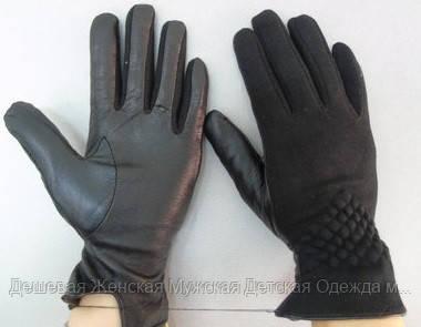 Жіноча рукавичка еко шкіра кашемір
