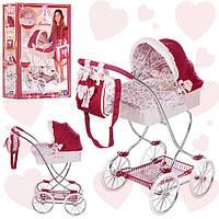 Классическая коляска для куклы 80215 с сумкой и подушкой