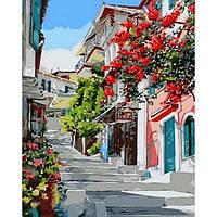 """Картина по номерам """"Цветочная улица"""" [40х50см, С Коробкой]"""