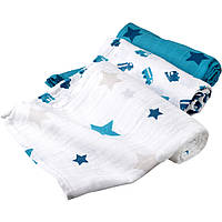Муслиновые пеленки для новорожденных (3 шт) 80 х 80 см