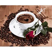 """Картина по номерам """"Приглашение на кофе"""" [40х50см, С Коробкой]"""