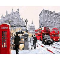 """Картина по номерам """"Лондонский дождь"""" [40х50см, С Коробкой]"""