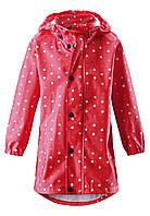 Куртка-дождевик для девочки Reima Usva красная 521494-3724, размер 110 (5 лет)