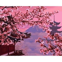 """Картина по номерам """"Японский пейзаж"""" 40х50см, С Коробкой"""
