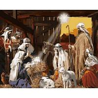 "Картина раскраска по номерам ""Рождение Христа"" набор для рисования"