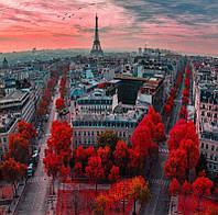 """Картина раскраска по номерам """"Алые краски Парижа"""" набор для рисования"""