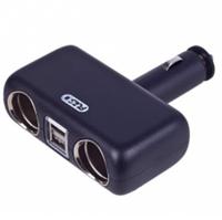 Разветвитель в прикуриватель, 2 гнезда + 2 USB, 2400mA, 12/24V Vitol SC-2004