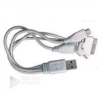 Кабель, провод 4 in 1 micro/mini/pg/nokia, USB Кабель, провод 4 in 1
