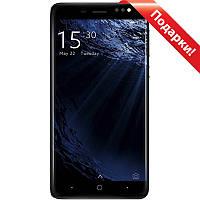 """Смартфон 5"""" BLUBOO D1, 2GB+16GB Черный 4 ядра 2.5D стеклянный экран Android 7.0 + селfи в подарок"""