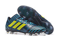 Футбольные бутсы adidas Nemeziz 17.1 FG Legend Ink/Solar Yellow/Energy Blue, фото 1