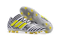 Копія Футбольные бутсы adidas Nemeziz 17.1 FG White/Solar Yellow/Core Black, фото 1