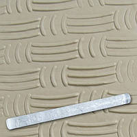 Скалка текстурная для мастики прозрачная Д=13мм L= 207мм Empire EM8945 (Empire Эмпаир Емпаєр) 