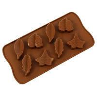 Силиконовая форма для выпечки и шоколада 8шт 20*12*2см Листья EM7146 (Empire Эмпаир Емпаєр) 