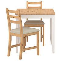 ЛЕРХАМН стол и 2 стула