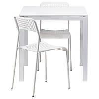 МЕЛЬТОРП / АДДЕ стол и 2 стула