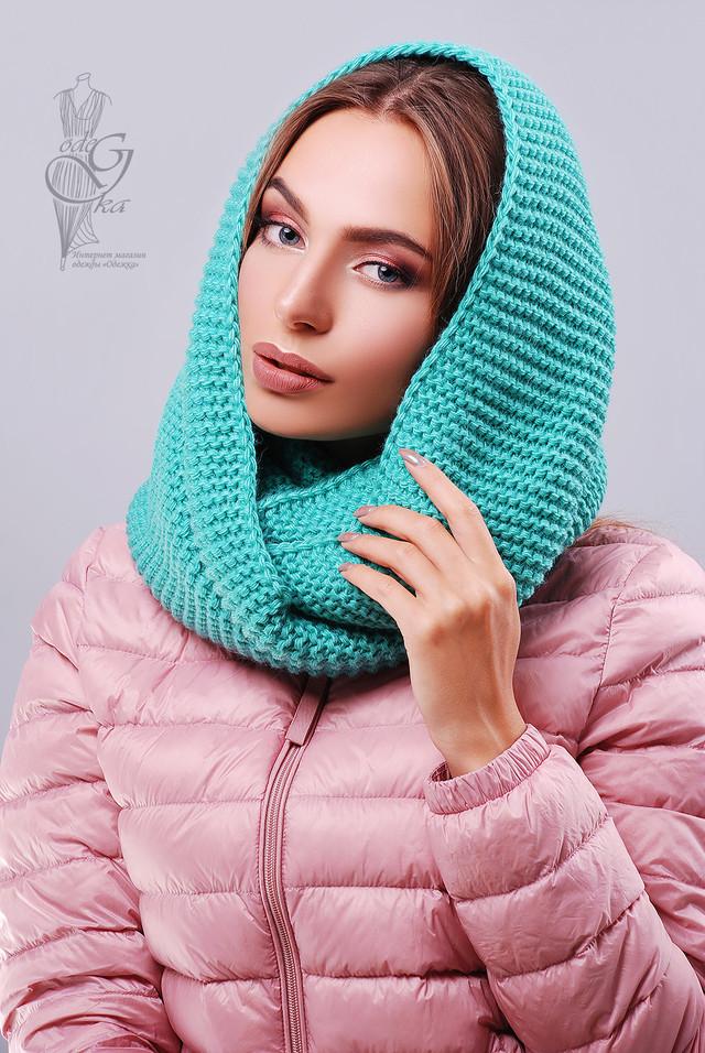 Бирюзовый цвет Вязаного шарфа Снуд