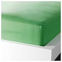 ДВАЛА Простыня натяжная, зеленый