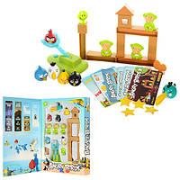Игра 9181   Angry birds, катапульта для птиц, карточки, муз, свет, на бат-ке,в кор-ке,40-27-5см