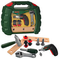 Набор инструментов 8384   дрель ,молоток, отвертка, болты,на бат-ке,в чемодане, 31-26,5-9см
