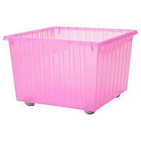 ВЕССЛА Ящик на колесах, розовый